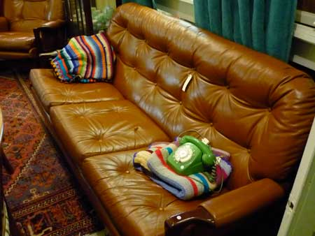 Danish leather couch