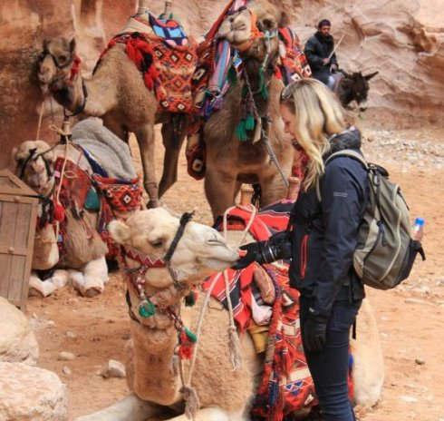 Steph and a Camel