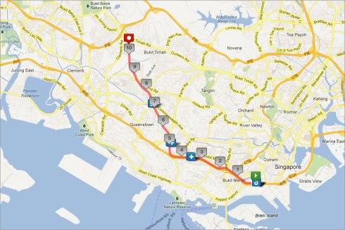Green Corridor Run map