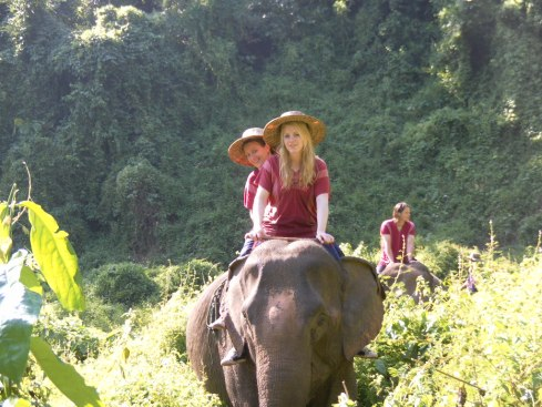 AdventureHoney guests visiting an Elephant Sanctuary in Northern Thailand