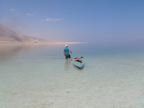 Paddling the length of the Dead Sea