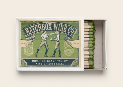 Matchbox Wine Co. Riesling label