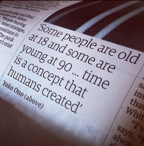 Nice thought Yoko Ono