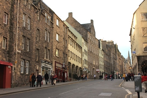 The Royal Mile of Edinburgh, tourist lifeblood of the city and a step back in time.