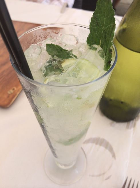 Sweet and tart mojito