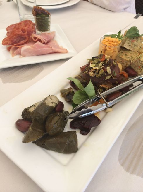 First course was a generous antipasto platter.